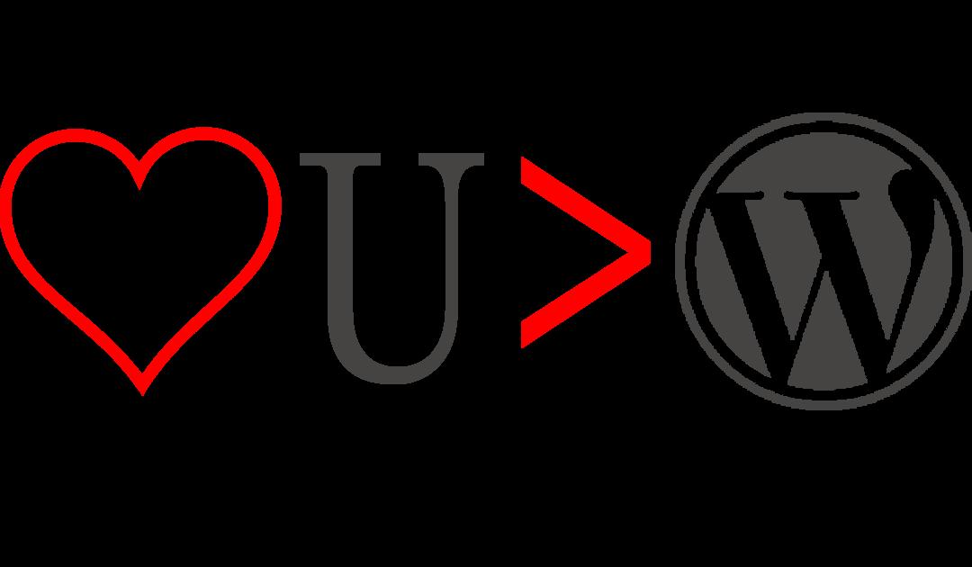 I Love You More than WordPress
