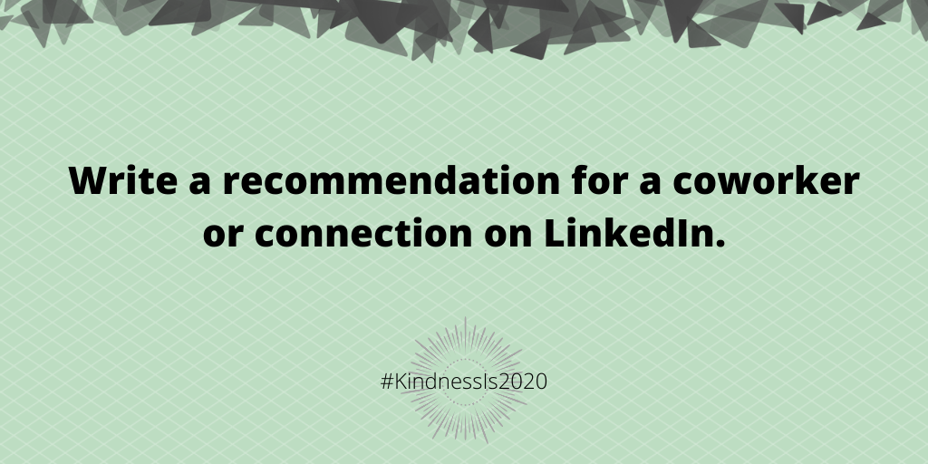 Write a recommendation for a coworker or connection on LinkedIn.
