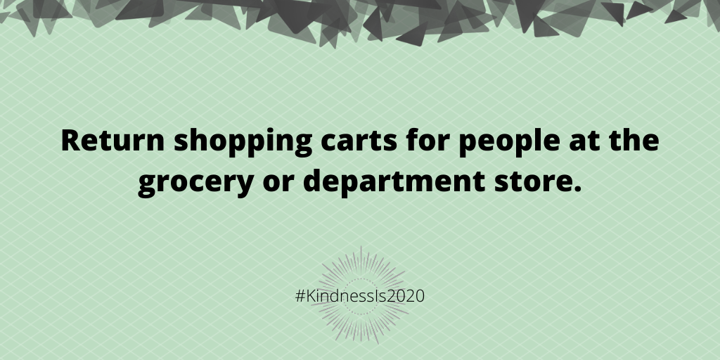 Return shopping carts for people at the grocery or department store.