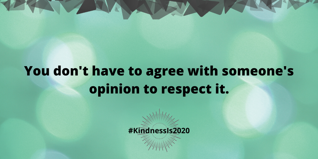 You don't have to agree with someone's opinion to respect it.
